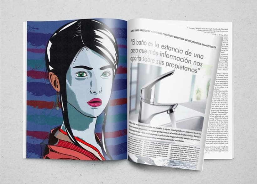 Ilustración Geisha 2