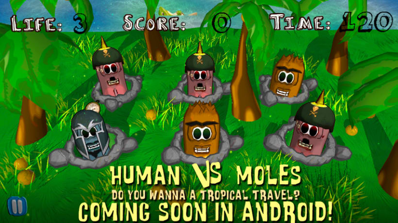 """Human vs Moles"" Game 1"