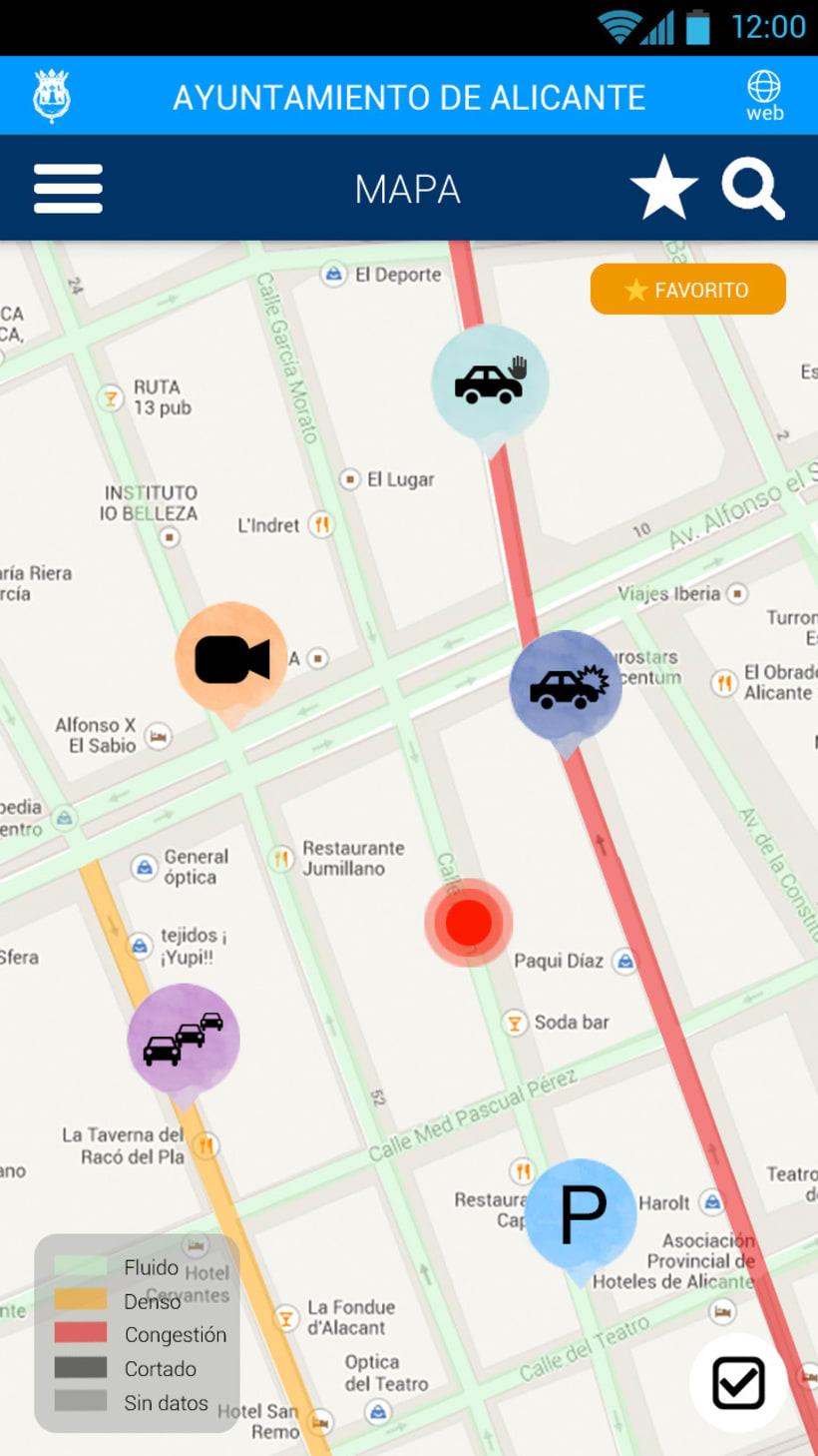 Tráfico de Alicante mobile app 3