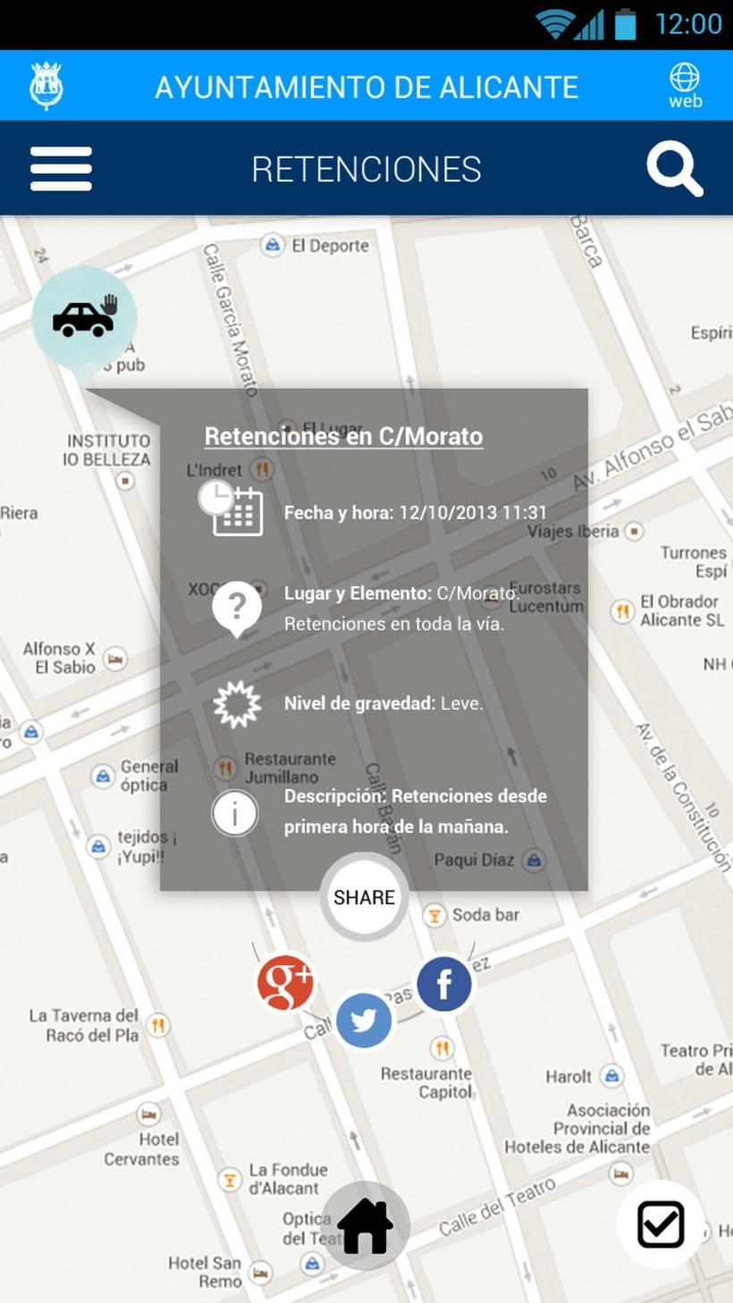 Tráfico de Alicante mobile app 4