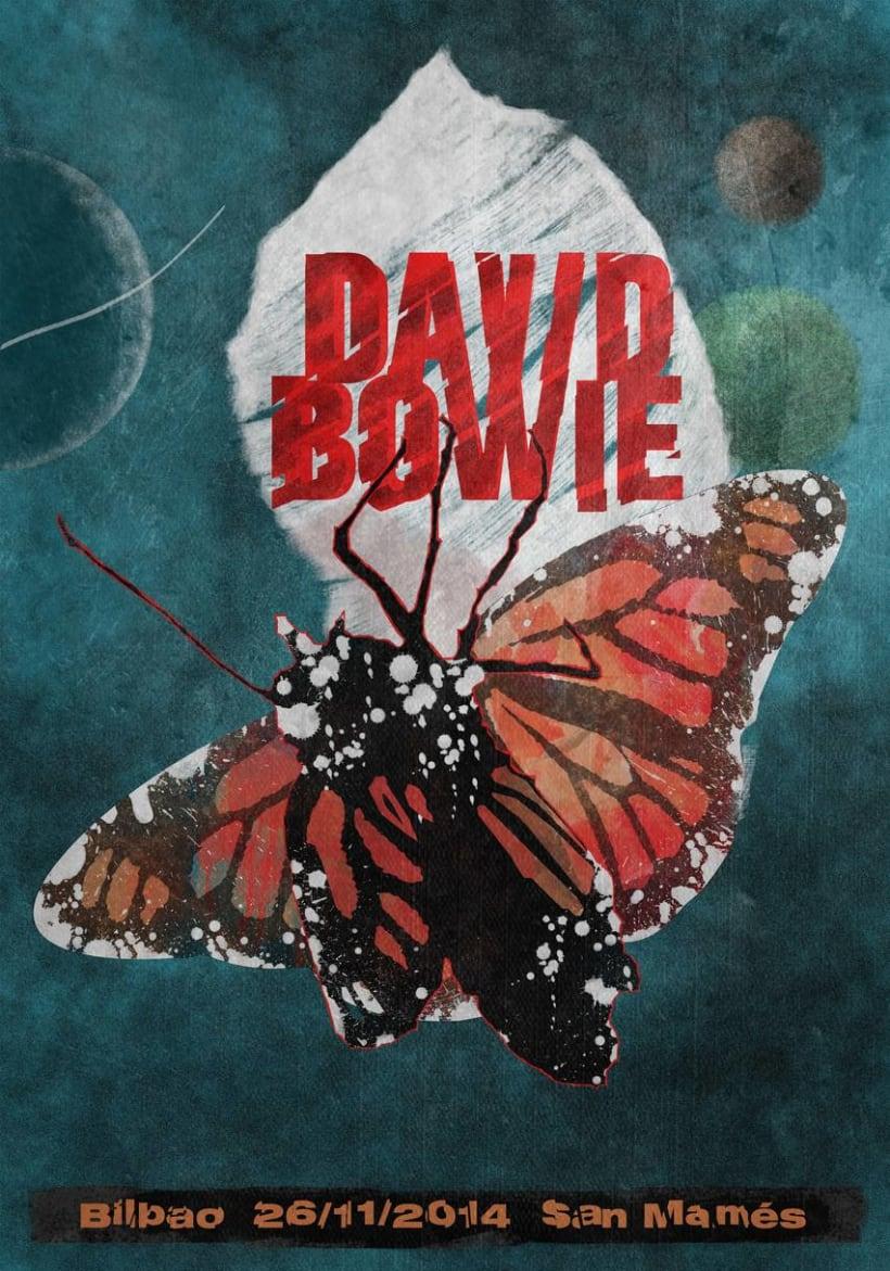Cartel para concierto de David Bowie 0