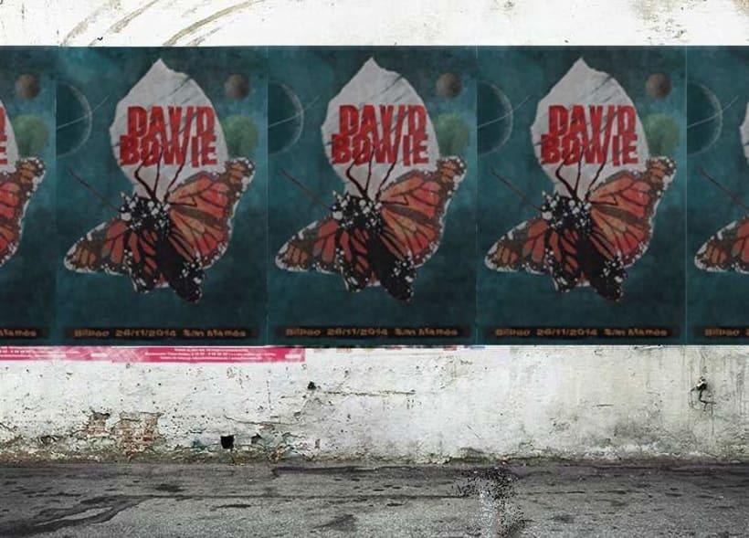 Cartel para concierto de David Bowie 1