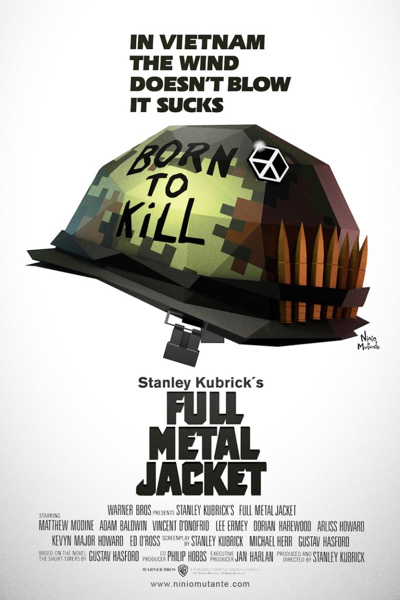 Poster FULL METAL JACKET Low Poly 0
