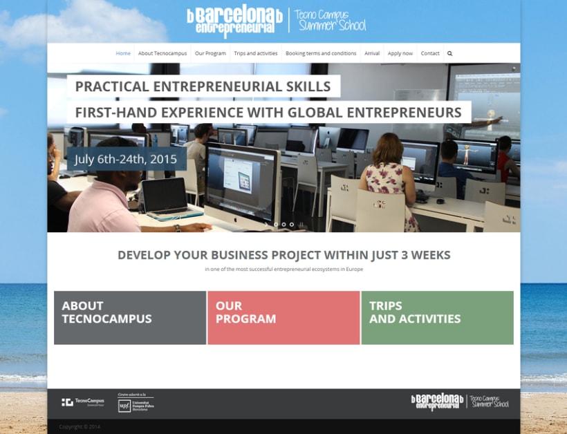 Website TecnoCampus Summer School 2
