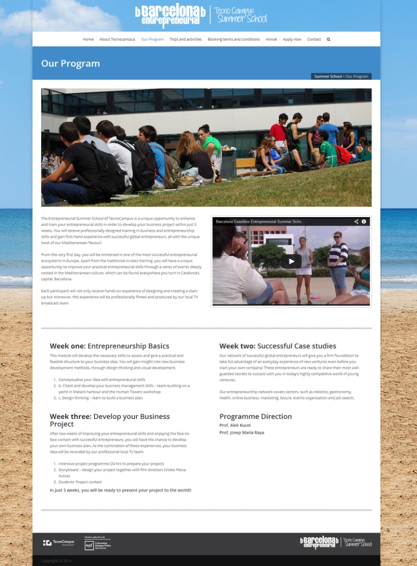 Website TecnoCampus Summer School 3