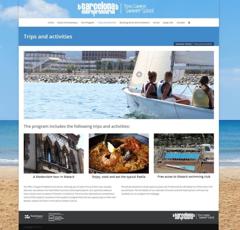 Website TecnoCampus Summer School 4
