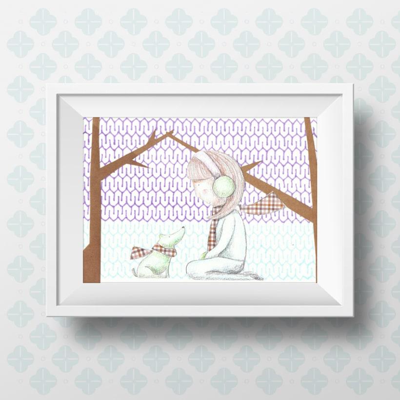 En el bosque - Ilustración infantil -1