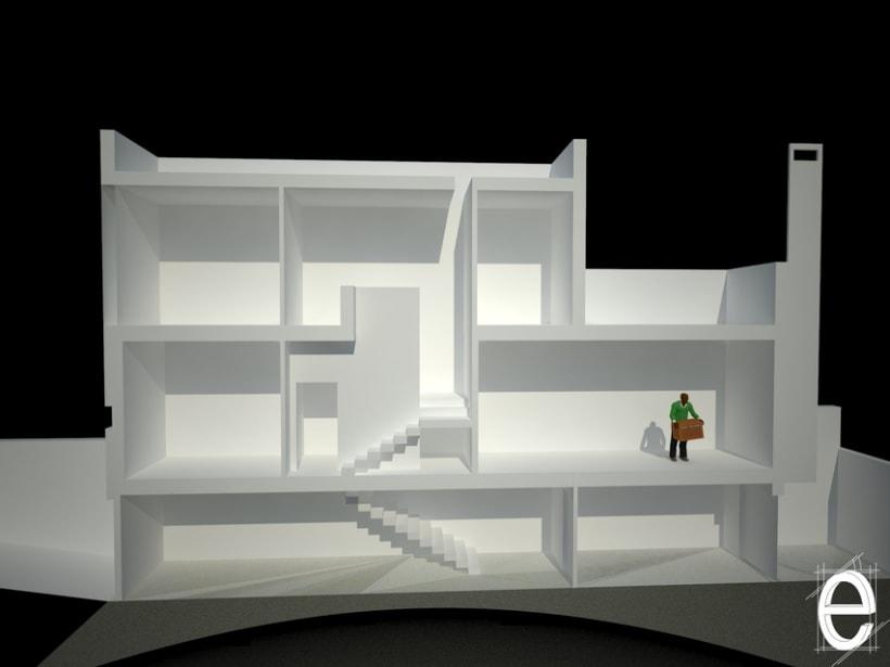 Diseño 3D vivienda unifamiliar 1