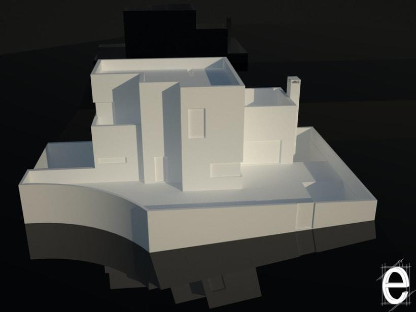 Diseño 3D vivienda unifamiliar 0