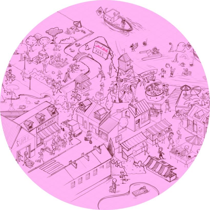 Ilustraciones para Juego en Facebook. Pink Lady. 10