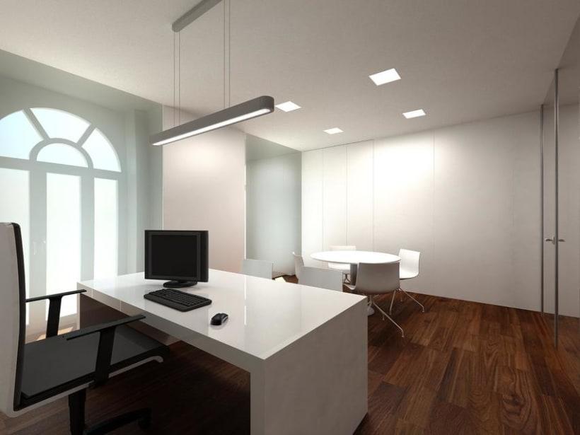 Remodelaci n y renders en 3d de oficinas domestika for Remodelacion oficinas