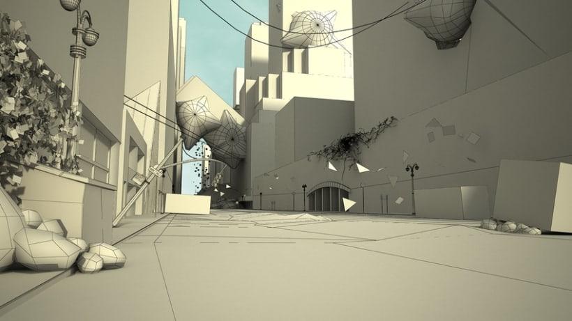 Render en 3D de una calle de Nueva York 1
