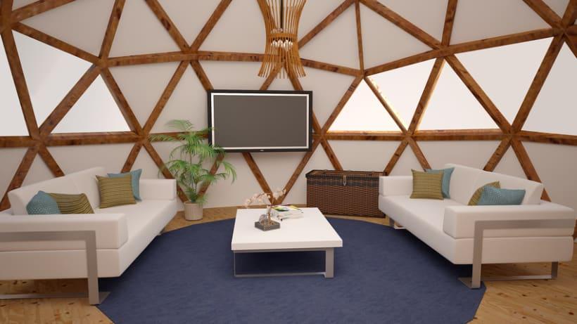 Render en 3D de un espacio interior de una cúpula -1