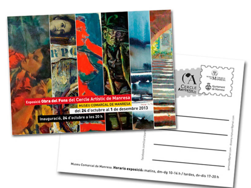 Postal Exposición Museo Comarcal de Manresa -1