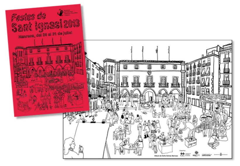 Cartel A3 y portada flyer Fiestas de Sant Ignasi -1
