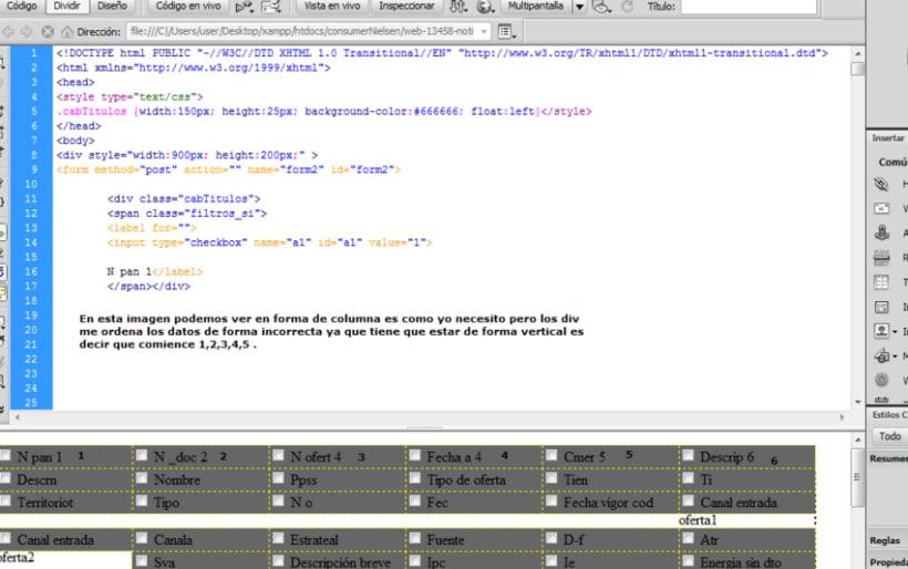 Ayuda con div en CSS. Ordenar uno de bajo del otro 3