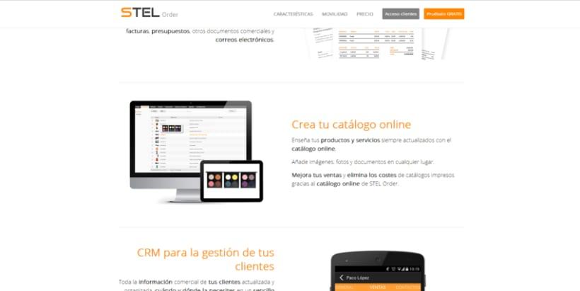 Página web de STEL Order -1