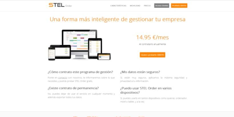 Página web de STEL Order 1