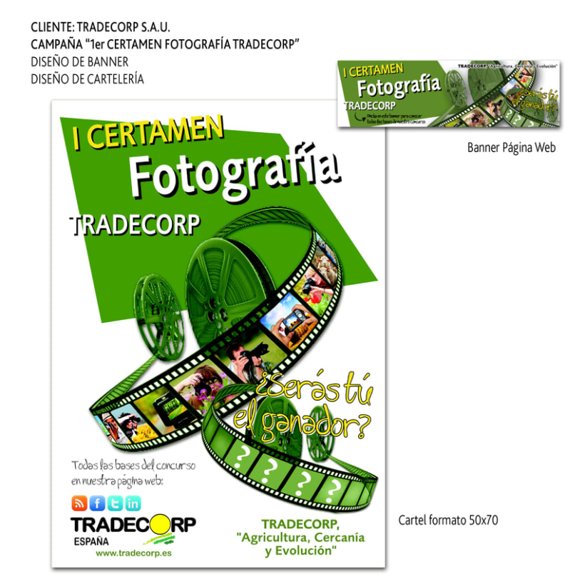 CLIENTE: TRADECORP S.A.U. Material I Certamen de Fotografía 0