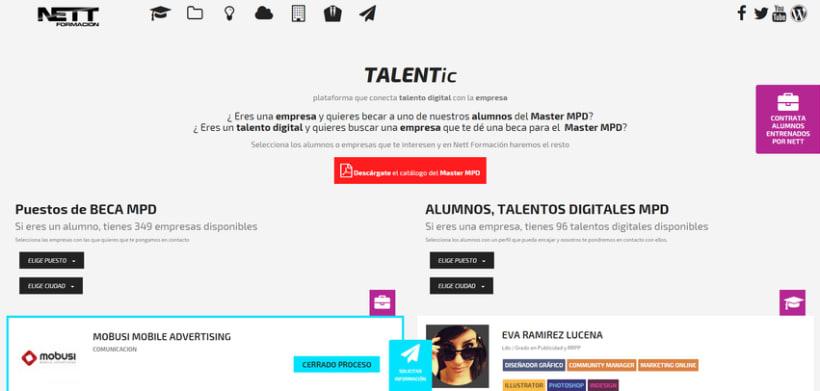 TALENTIC, plataforma que conecta el talento digital con la empresa | Beca #MasterMPD 1