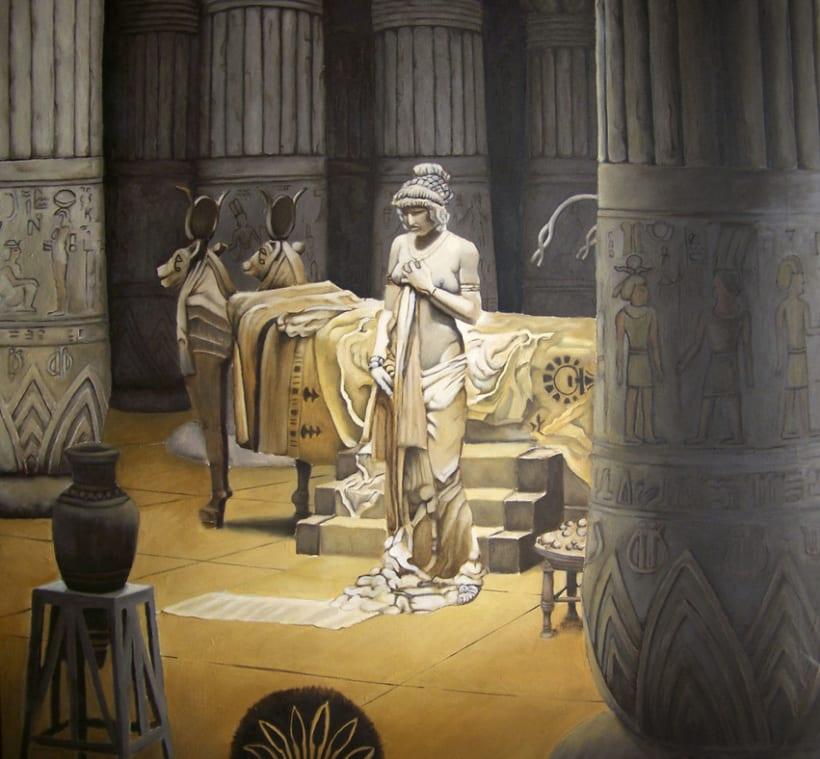 Paulina en el templo de isis 0