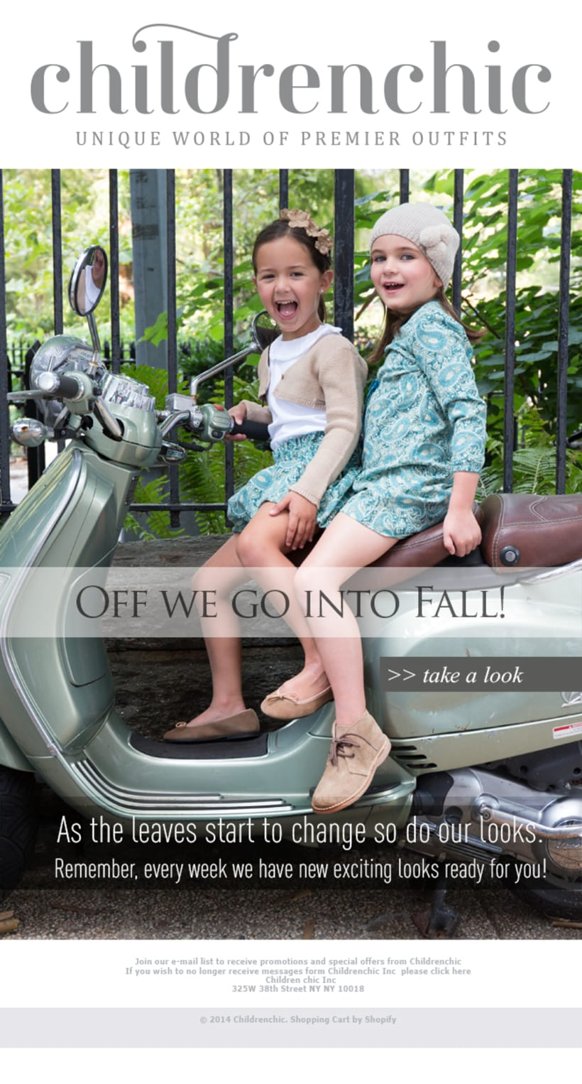 Template Email Blast: CHILDRENCHIC 1