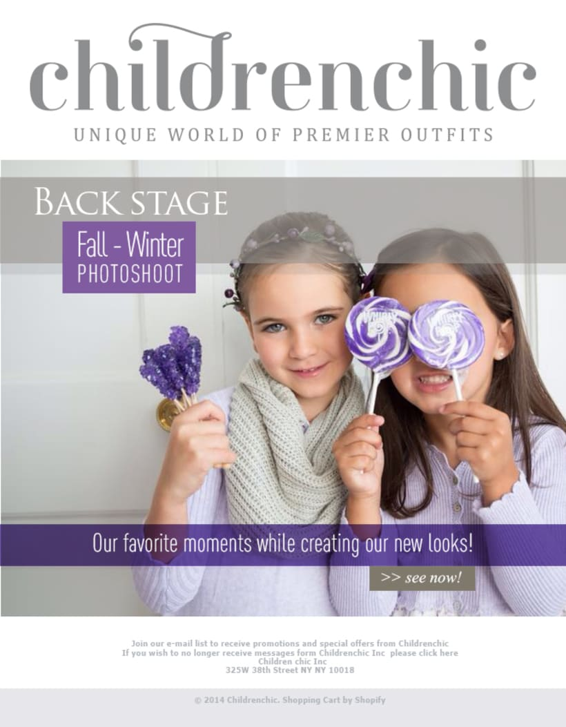 Template Email Blast: CHILDRENCHIC 0