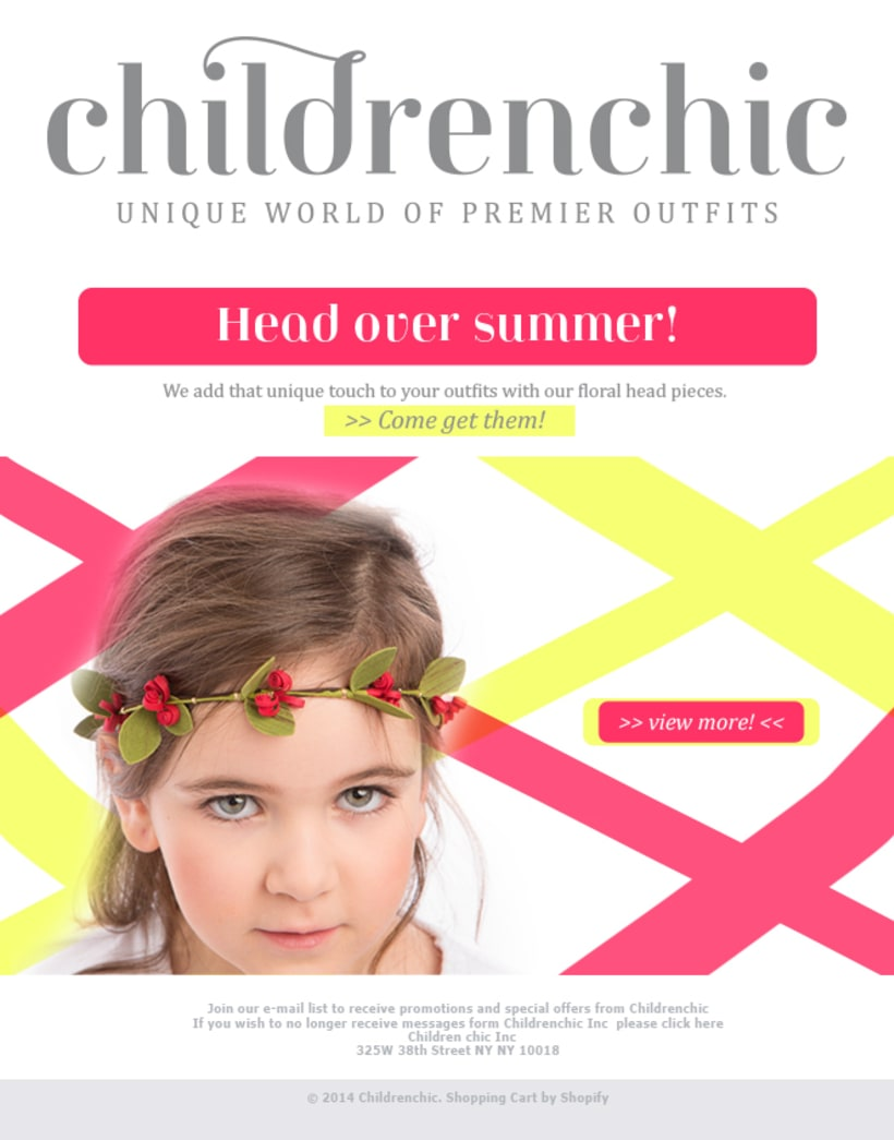 Template Email Blast: CHILDRENCHIC 2
