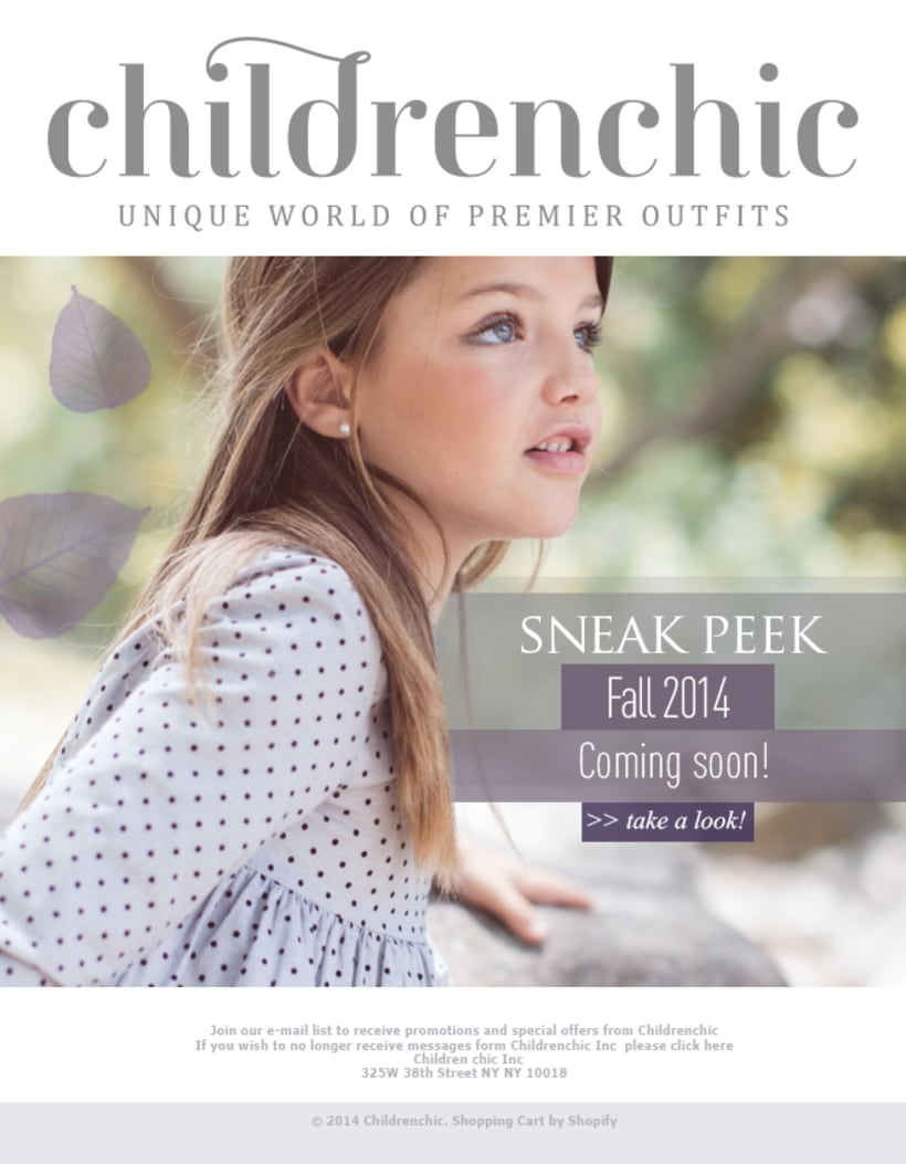 Template Email Blast: CHILDRENCHIC 3