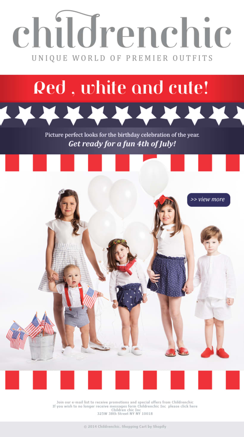 Template Email Blast: CHILDRENCHIC 4