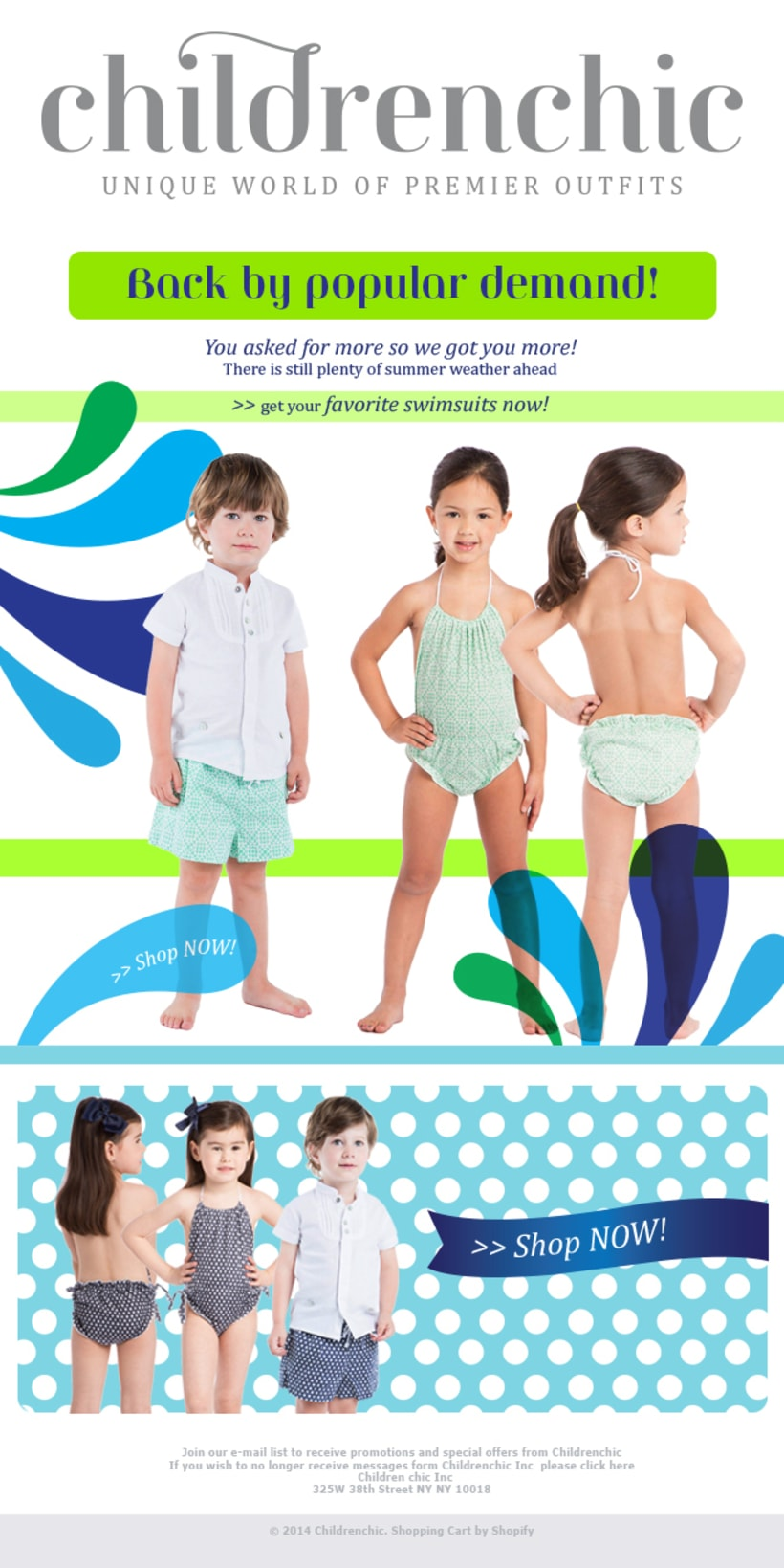 Template Email Blast: CHILDRENCHIC 5