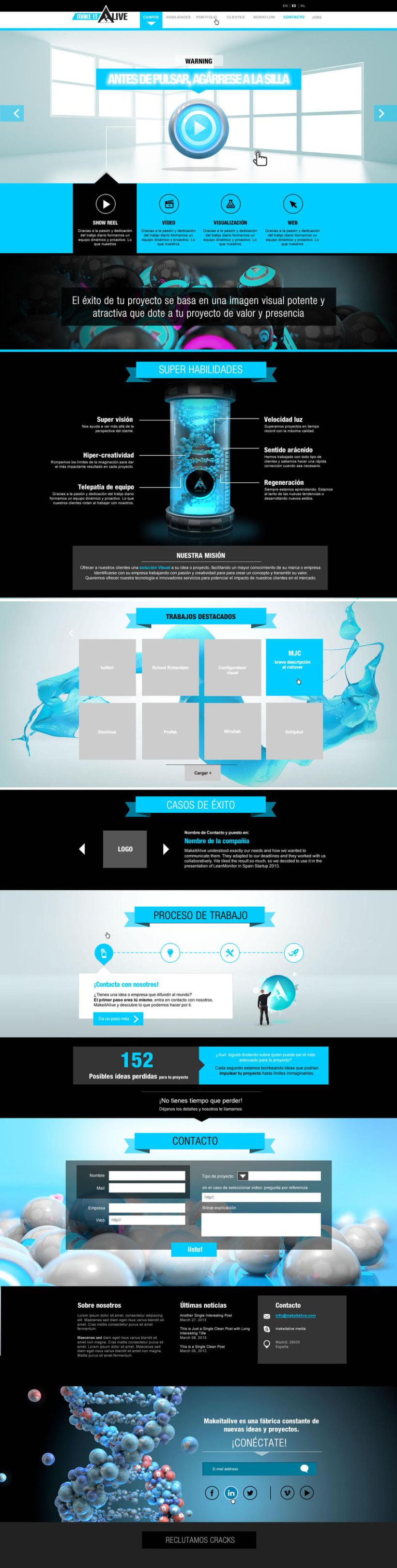 MakeitAlive - Web design & concept 1