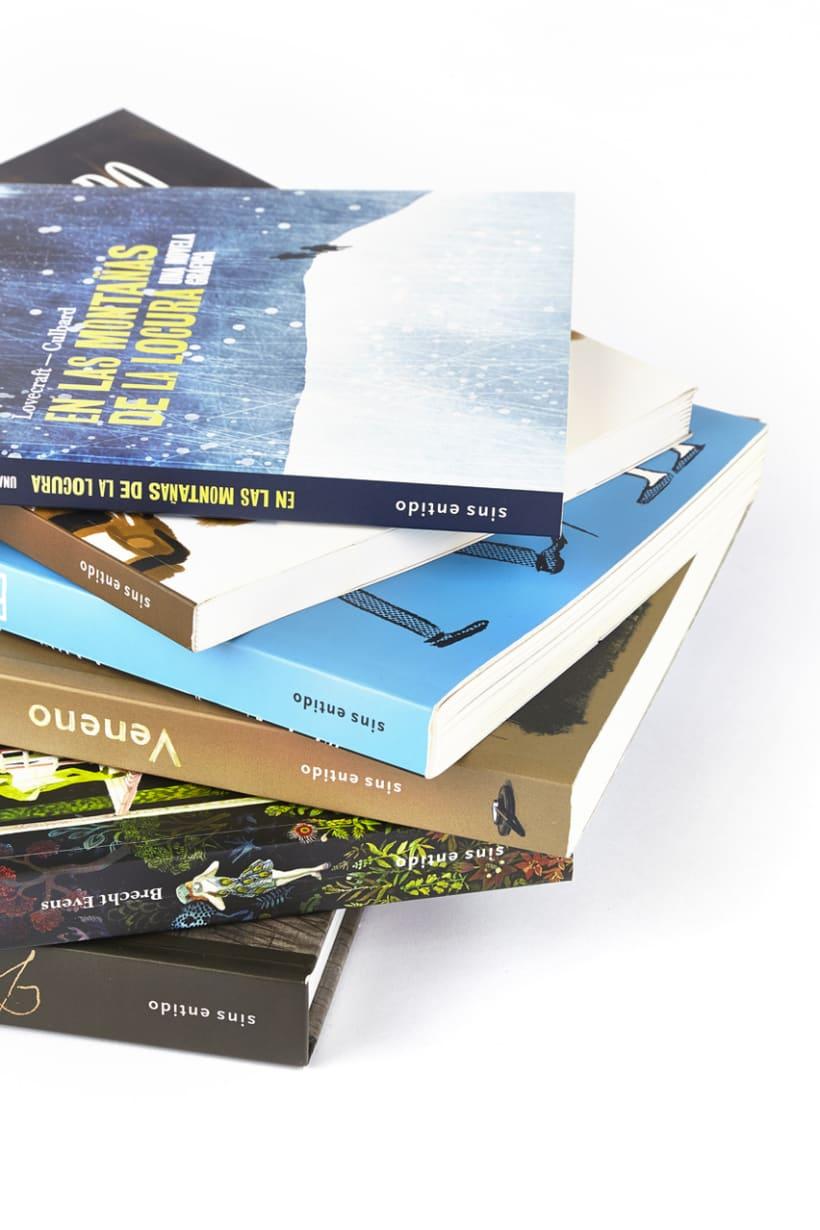 Diseños de cubierta y maquetación para editorial Sins Entido 5