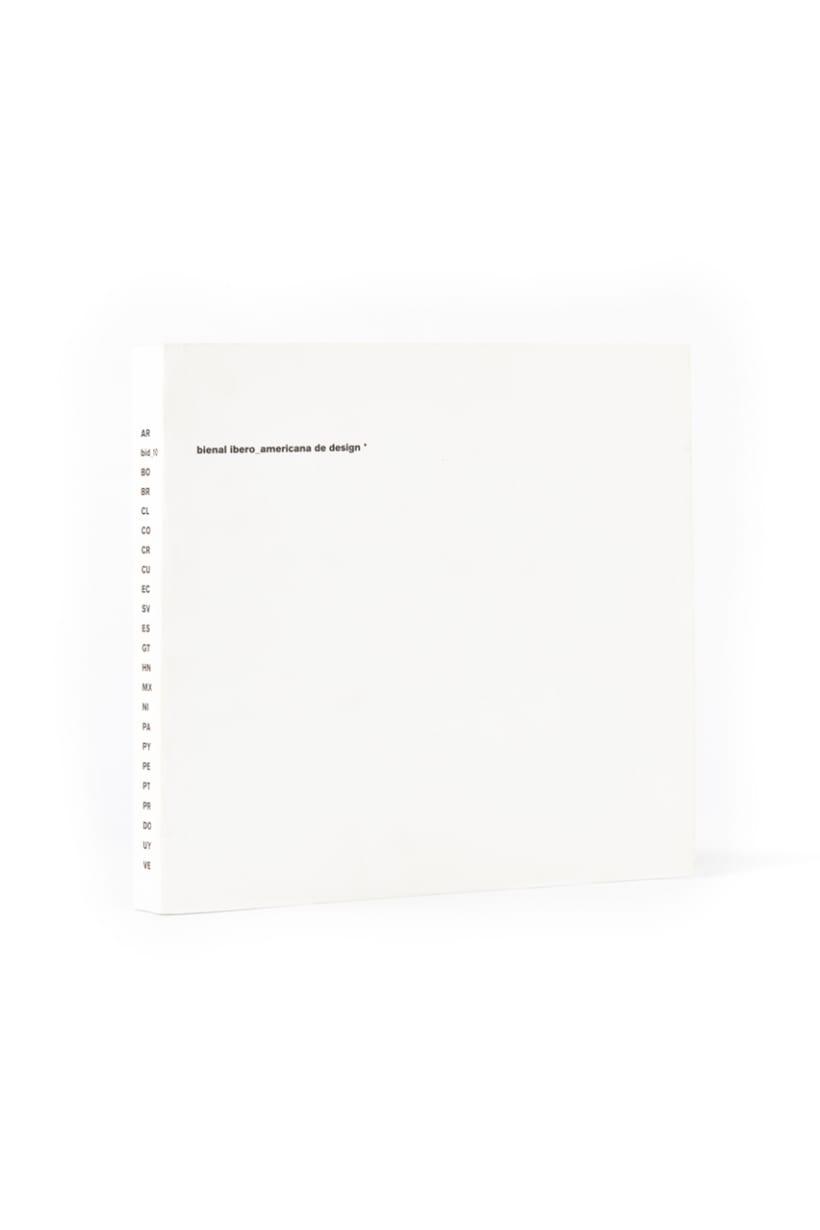 Diseño gráfico de catálogo Bienal iberoamericana de diseño -1