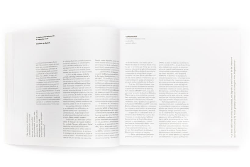 Diseño gráfico de catálogo Bienal iberoamericana de diseño 1