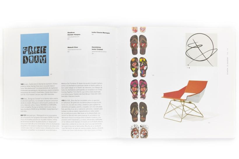 Diseño gráfico de catálogo Bienal iberoamericana de diseño 4