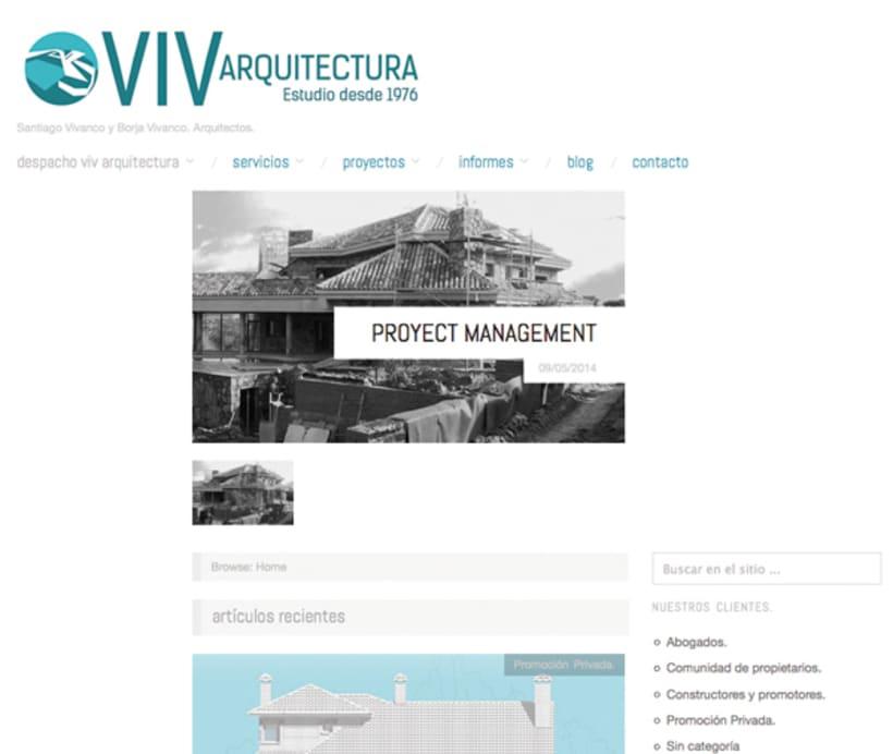 VIV-arquitectura.com / Diseño de imagen corporativa y web 3