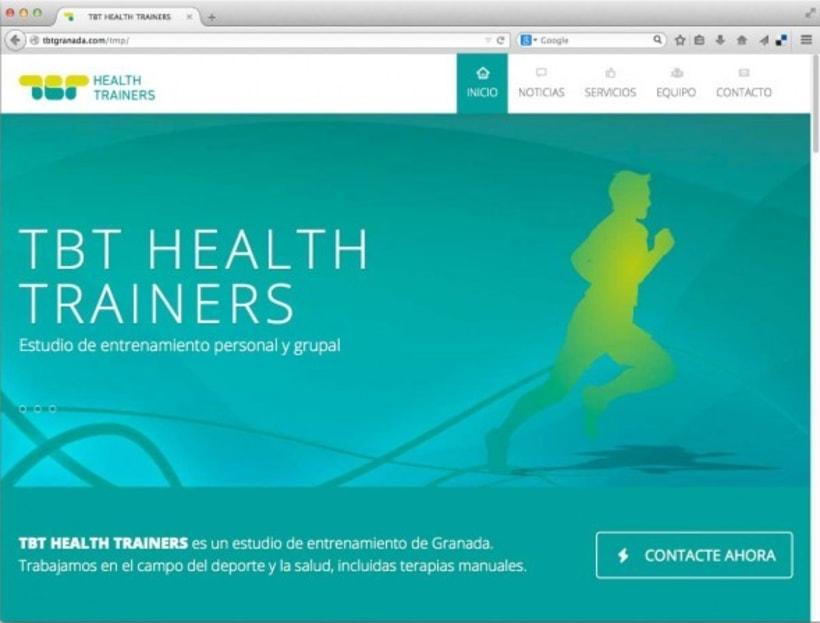 Diseño de marca para TBT Health Trainers 4
