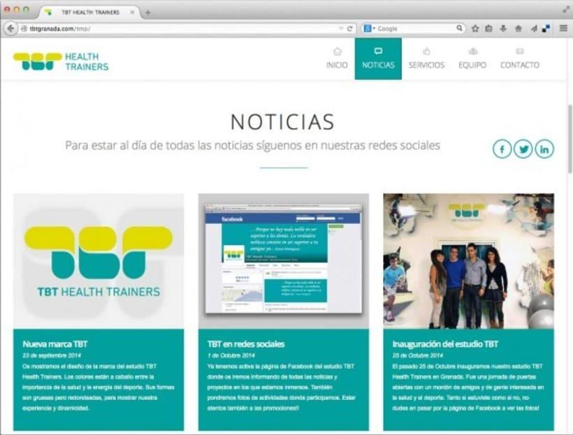 Diseño de marca para TBT Health Trainers 5