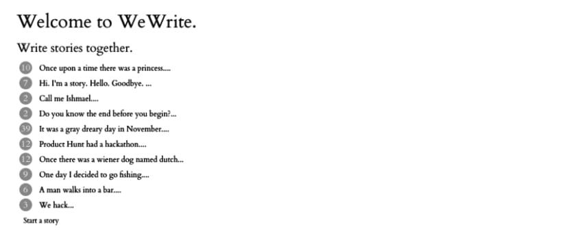 We Write 1