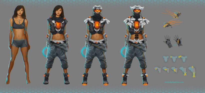 Concept art - speedgirl -1
