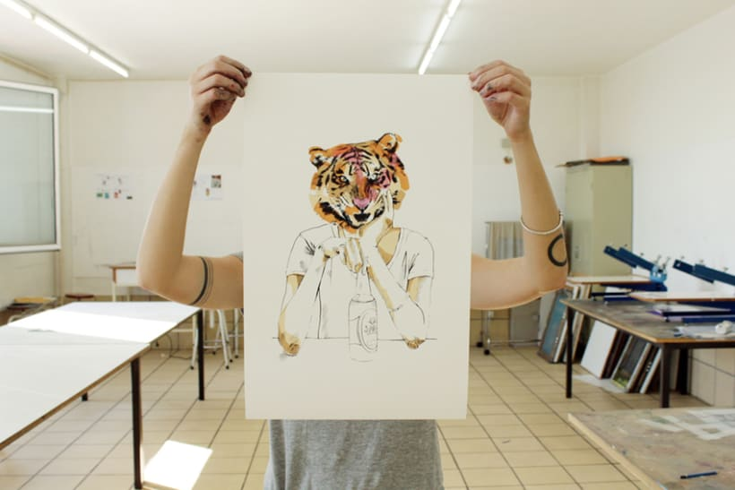A tiger in Hamburg 1