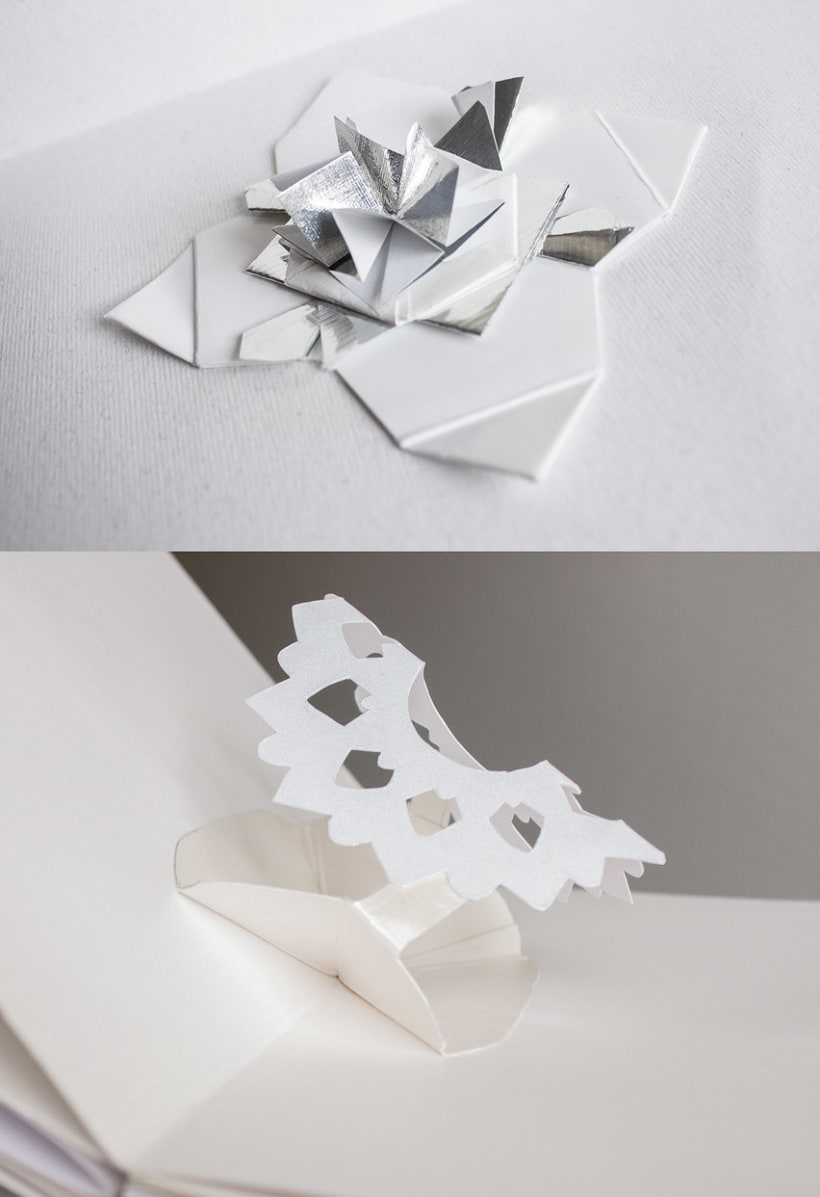 Pop Up Flower Book Traits Sur Le Papier Domestika