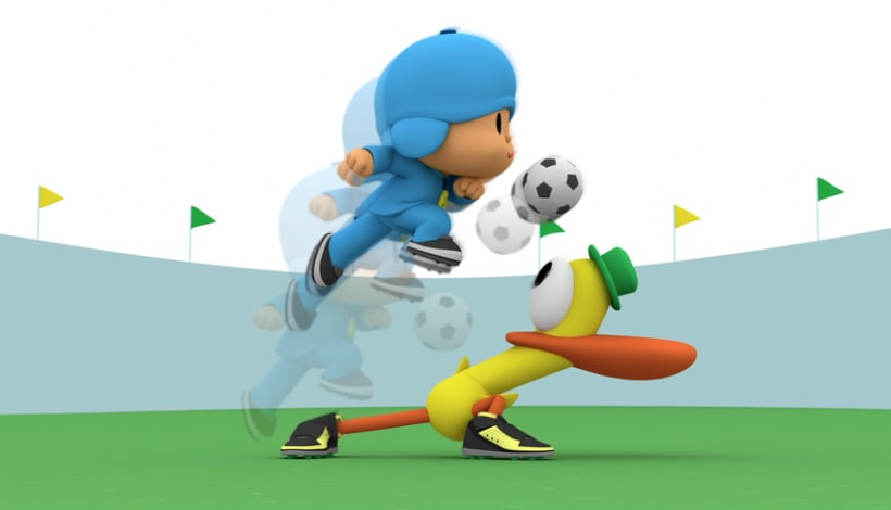 Pocoyo Mundial Brasil 2014. (Making off) 1