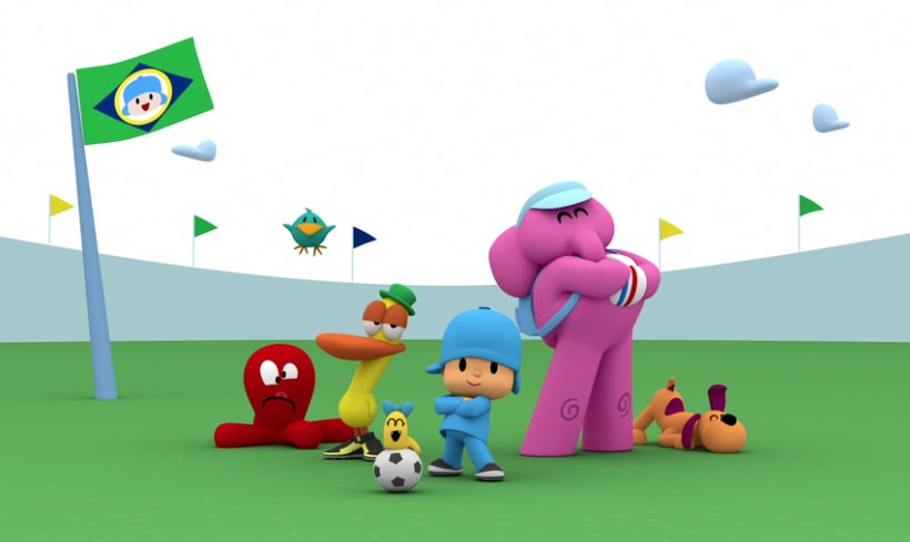 Pocoyo Mundial Brasil 2014. (Making off) 5