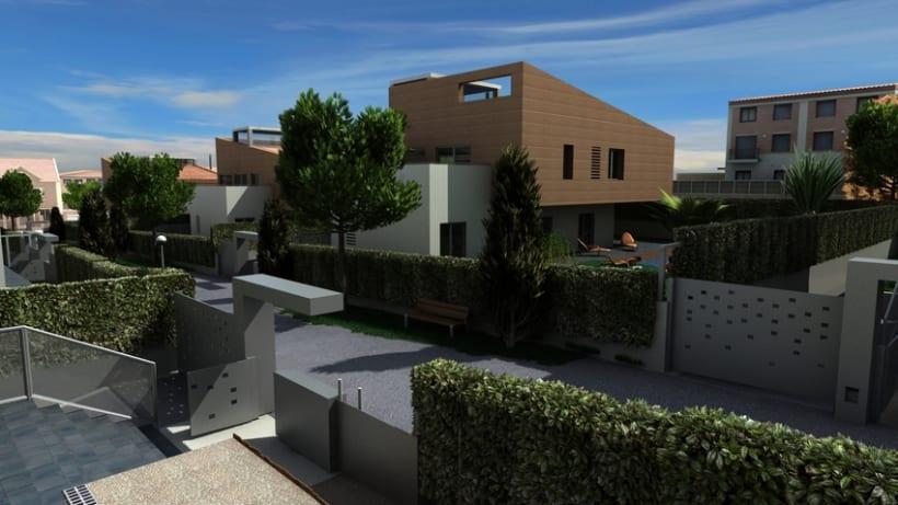 Casas residenciales Mirasol 3D -1