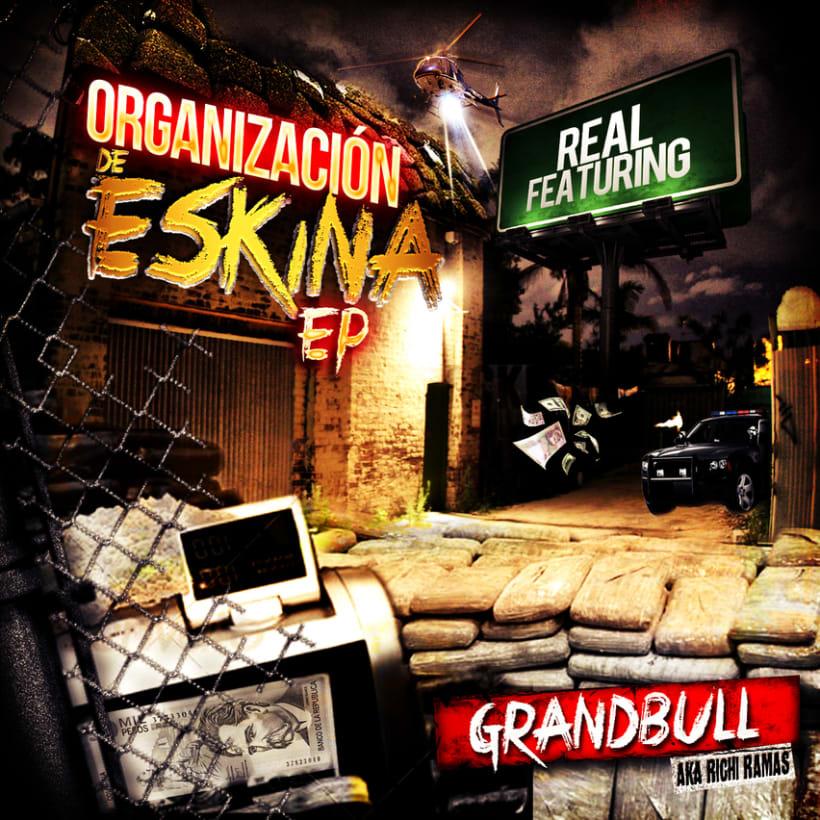 Diseño Grafico CD Organizacion de eskina Grandbull feat RF -1