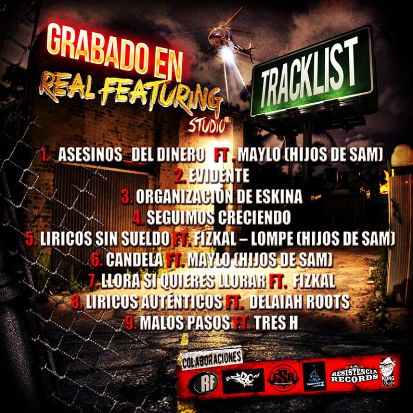 Diseño Grafico CD Organizacion de eskina Grandbull feat RF 0