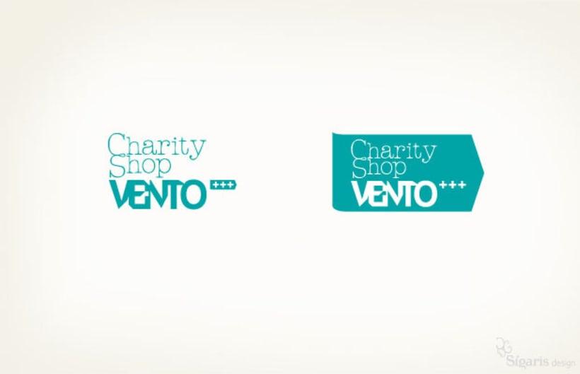 Identidad corporativa «Charity Shop Vento» 0