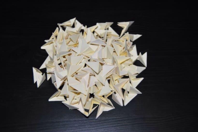 Jarrón y Rosas. Origami 3D 2